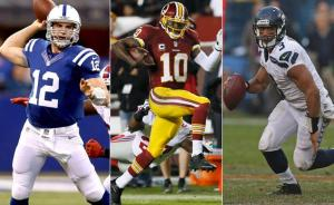 Andrew Luck, RGIII, Russell Wilson