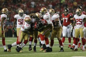 La défense des 49ers face aux Falcons en finale de conférence NFC