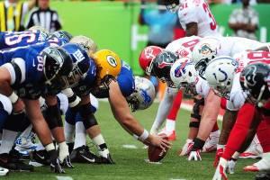 Les lignes de la NFC et de l'AFC face à face