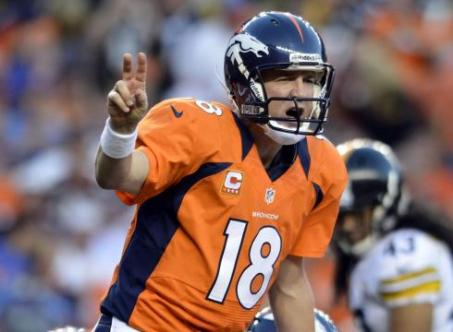 1. Peyton Manning (Denver Broncos) : 400/583 (68.6%) - 4659 yards (291.2/match) - 37 TD - 11 INT - 105.8 rating