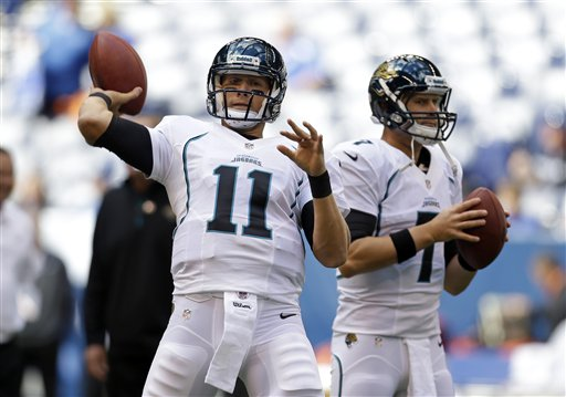 Blaine Gabbert (11) ou Chad Henne (7), qui s'imposera au poste de quarterback ?
