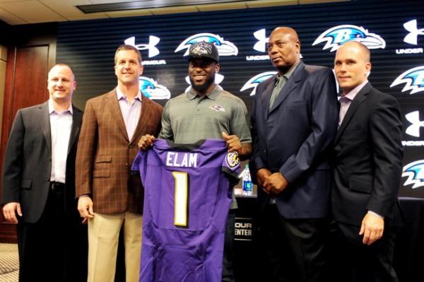 Le safety Matt Elam, premier choix des Ravens lors de la Draft 2013