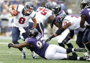Grosse défense des Ravens face aux Texans