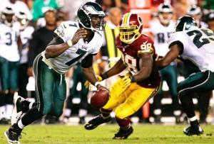 Michael Vick en forme face aux Redskins