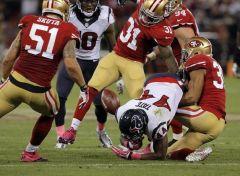 Grosse défense des 49ers face aux Texans