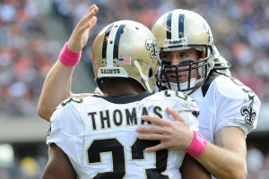 2 TD pour la paire Drew Brees - Pierre Thomas