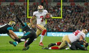 Portés par leur jeu au sol, les 49ers écrasent les Jags à Wembley