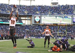 Le hail mary des Bengals, l'une des action du week-end