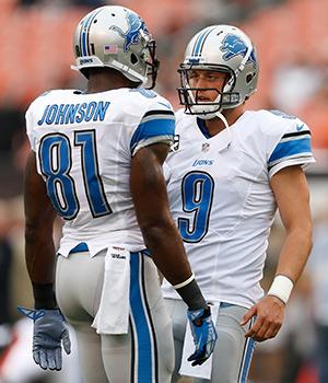 Calvin Johnson et Matthew Stafford sont tous les deux entrés dans l'histoire des Lions