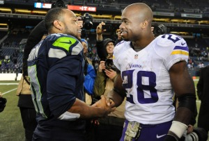 Percy Harvin salue son ancien coéquipier à Minnesota, Adrian Peterson