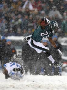 LeSean McCoy, très à l'aise sous la neige