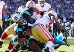 La défense des 49ers a mis une grosse pression sur Newton