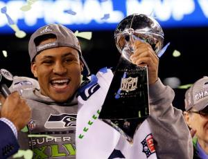 Malcolm Smith, MVP du Super Bowl XLVIII (photo : facebook NFL)