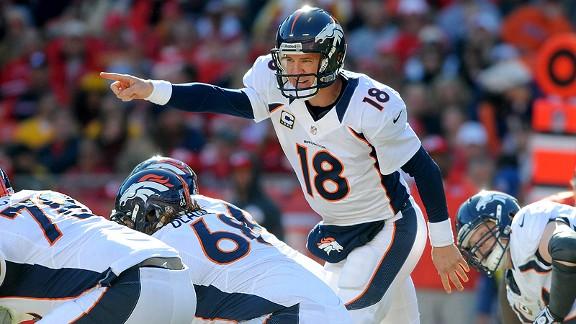 Peyton Manning. Il vient de battre les record sur une saison de yards (5477) et de TD (55). Ces performances lui ont valu un cinquième trophée de MVP, encore un record.