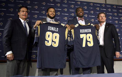Greg Robinson et Aaron Donald, les 2 choix du 1er tour des Rams