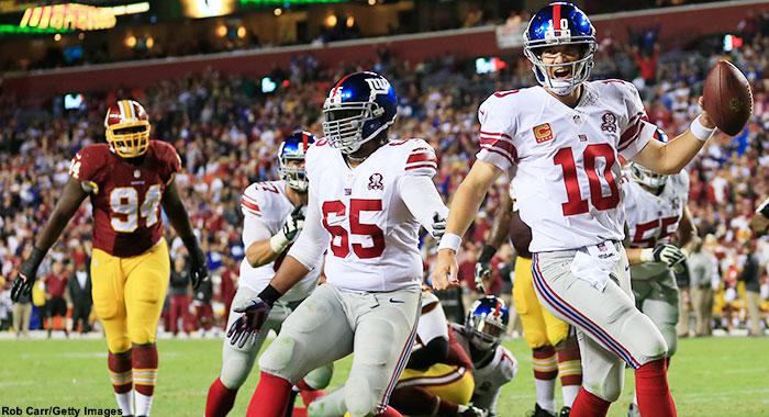 5 TD pour un très bon Eli Manning (photo : sports network)