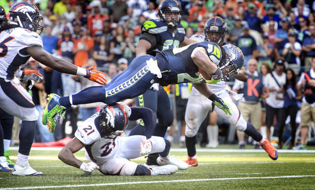 Marshawn Lynch donne la victoire aux Sehawks en prolongation (photo : the news tribune)