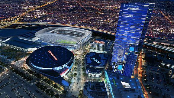 Le projet d'AEG pour un stade à côté du Staples Center (photo : ESPN)