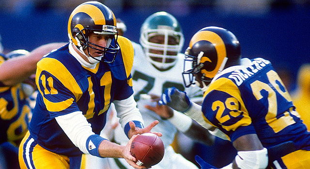 Les Los Angeles Rams, avec Jim Everett et Eric Dickerson (photo : NFL)