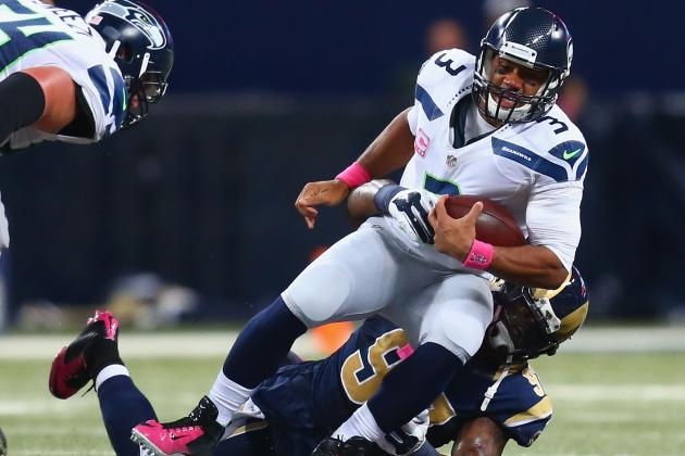 Malgré un excellent Russell Wilson, les Seahawks tombent pour la troisième fois cette saison (Getty Images)