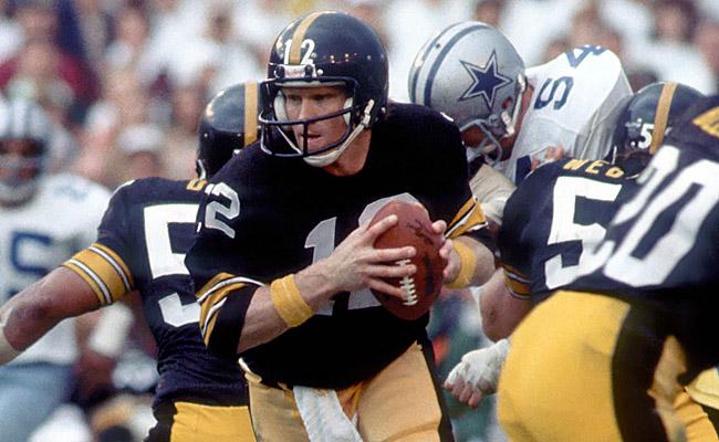 Les 318 yards de Terry Bradshaw étaient un record en Super Bowl à ce moment (photo : CBS)