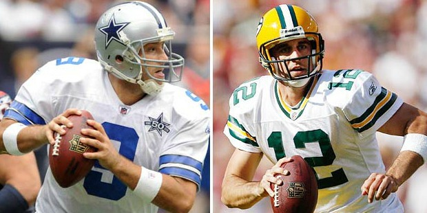 Les Packers d'Aaron Rodgers partent favoris face aux Cowboys de Tony Romo