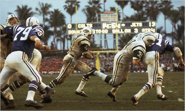 Joe Namath, MVP du Super Bowl III (photo : NY post)