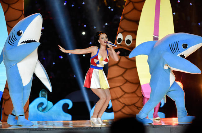 Katy Perry danse avec des requins... (WireImage)