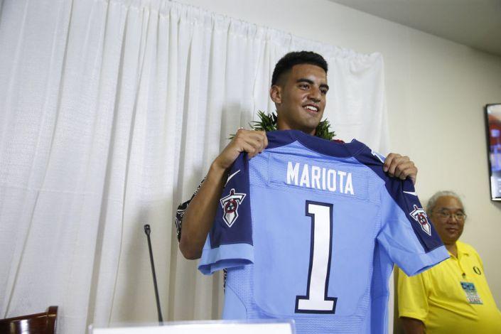 Les Titans prennent Marcus Mariota avec le 2ème choix (Sportsmania)