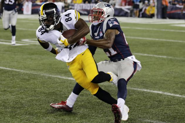 Les CB des Pats ont souffert face à Antonio Brown et les receveurs des Steelers (Associated Press)