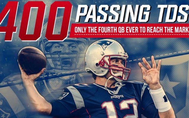 Tom Brady rejoint le club très fermé des QB avec plus de 400 TD (Twitter)