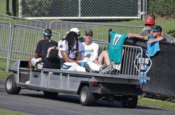La perte de Kelvin Benjamin est un coup dur pour les Panthers (Press Examiner)