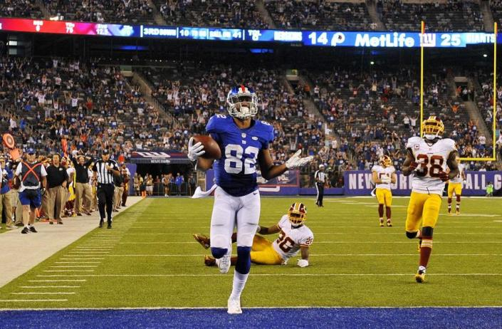 116 yards dont un TD de 41 yards pour Rueben Randle (Getty)
