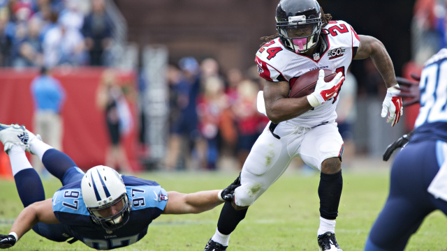 Devonta Freeman révolutionne le jeu au sol des Falcons (Wesley Hitt - Getty)