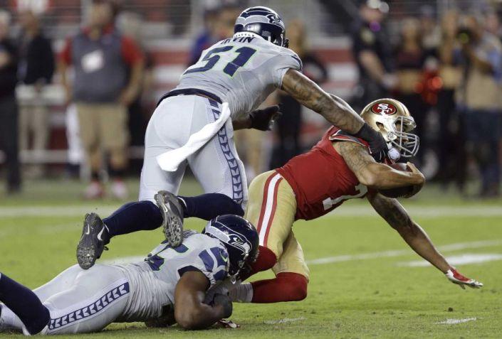 Défense et jeu au sol, les clés du succès des Seahawks hier soir (AP-Ben Margoty)