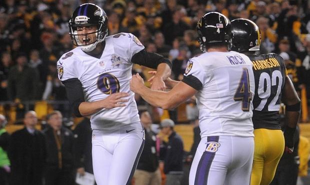 Justin Tucker n'a pas tremblé pour offrir un premier succès aux Ravens (USA Today)