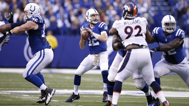 Grosse performance d'Andrew Luck pour faire tomber les Broncos (Joe Robbins - Getty)