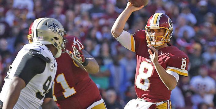 Kirk Cousins a profité de la faible défense des Saints pour sortir un gros match (CBS)