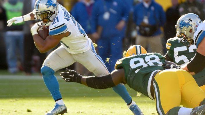 Les Lions font chuter les Packers au Lambeau Field (Benny Sieu USAT Sports)