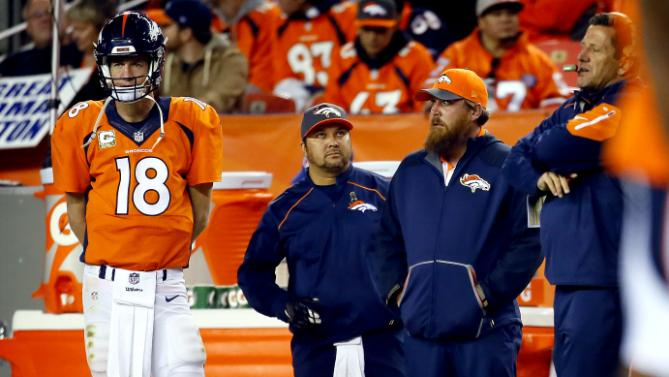 "Peyton Manning ""version sur la touche"" (AP)"