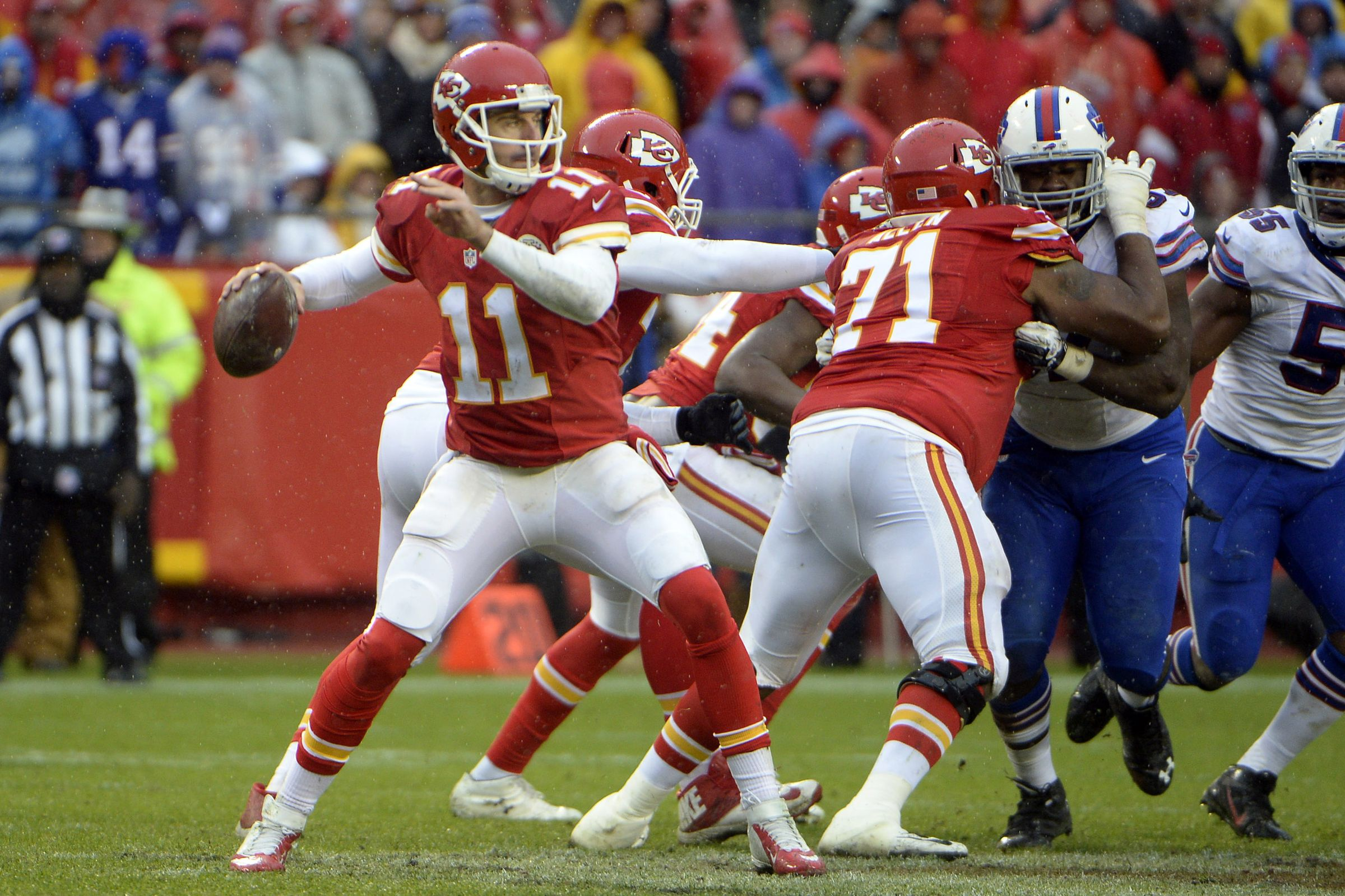 Alex Smith n'a pas été intercepté depuis la week 3 (USA Today)