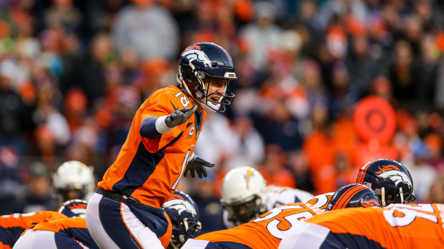 Peyton Manning a repris sa place au centre de l'attaque de Denver (Justin Edmonds - Getty)