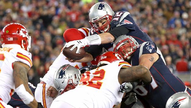 Tom Brady était particulièrement en forme face aux Chiefs (Jim Rogash - Getty)