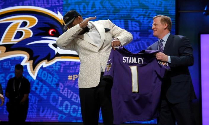 Le petit DAB en guise de célébration pour Ronnie Stanley (AP)