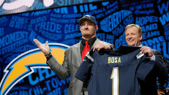 Joey Bosa, 3è choix de la Draft 2016 (Getty)