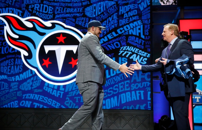 Jack Conklin, le 1er choix de Titans cette année (AP)