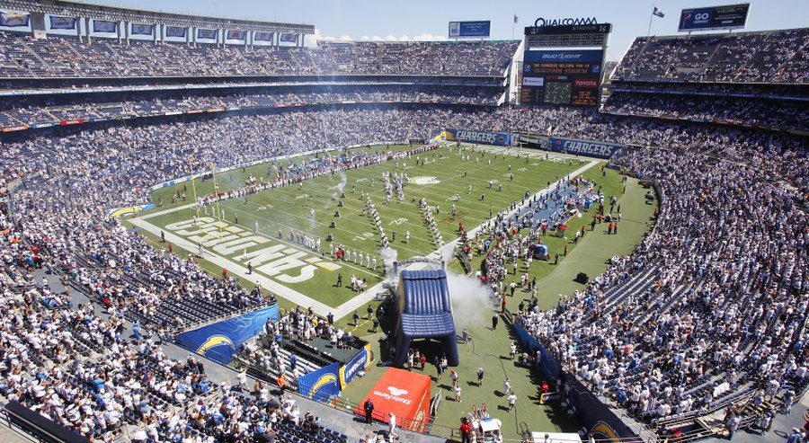 Jour de match au Qualcomm Stadium (San Diego Union Tribune)