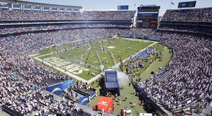 Jour de match au Qualcomm Stadium (San Diego Union Tribune)