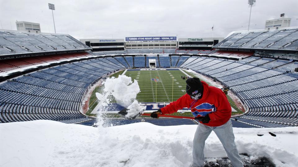 Le Ralph Wilson Stadium se retrouve souvent sous la neige (SI)