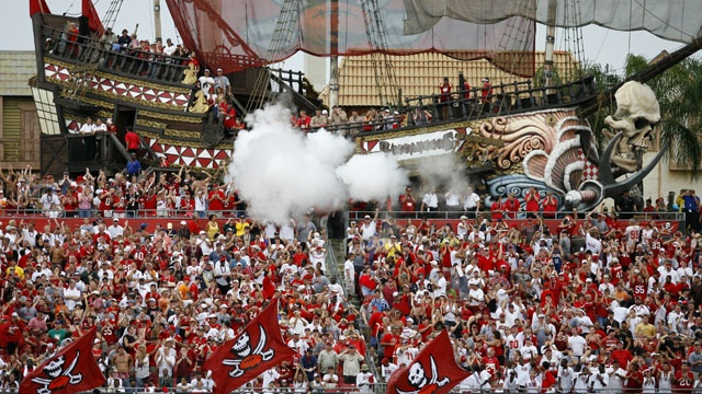 Le fameux bateau pirate du Raymond James Stadium (Pinterest)